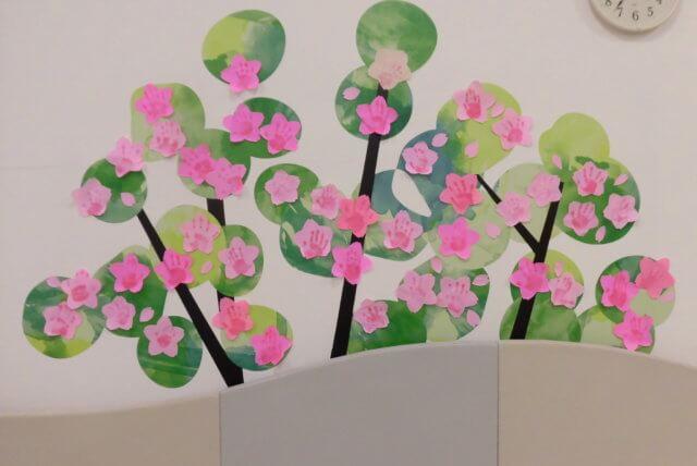 桜の手形をお渡してます